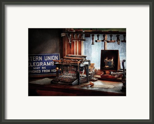 Writer - Typewriter - The Aspiring Writer Framed Print By Mike Savad