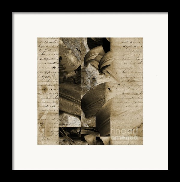 Written Iii Framed Print By Yanni Theodorou
