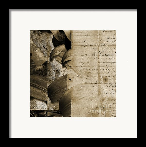 Written Framed Print By Yanni Theodorou