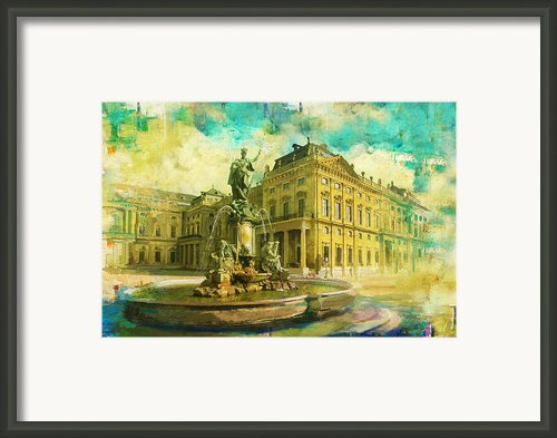Wurzburg Residence With The Court Gardens And Residence Square Framed Print By Catf