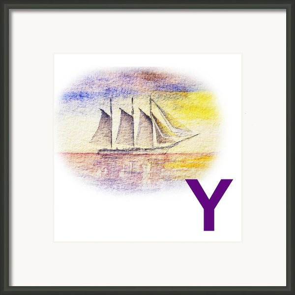 Y Art Alphabet For Kids Room Framed Print By Irina Sztukowski