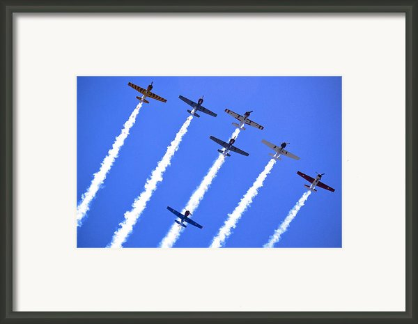 Yak 52 Formation Framed Print By Phil