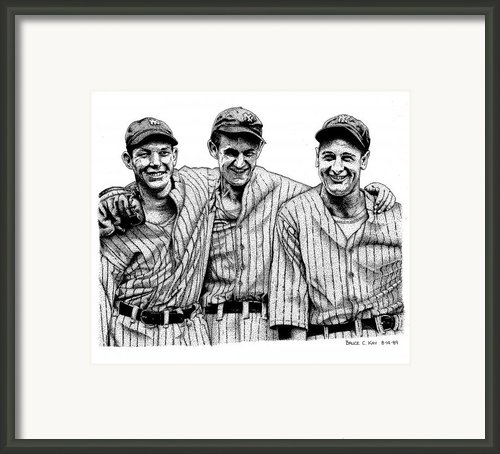 Yankee Legends Framed Print By Bruce Kay