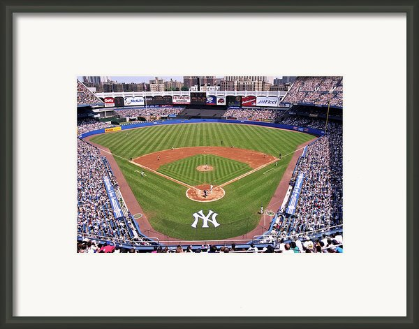 Yankee Stadium Framed Print By Allen Beatty