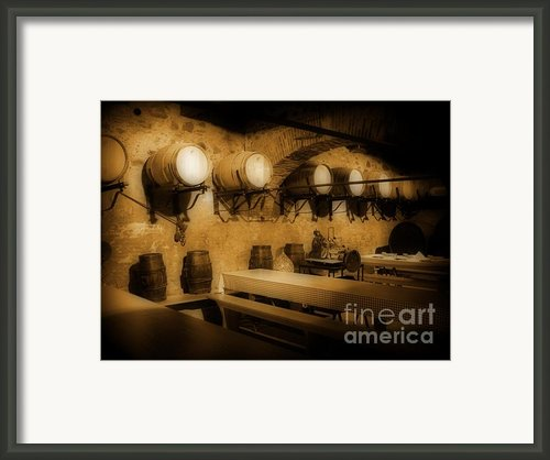 Ye Old Wine Cellar In Tuscany Framed Print By John Malone