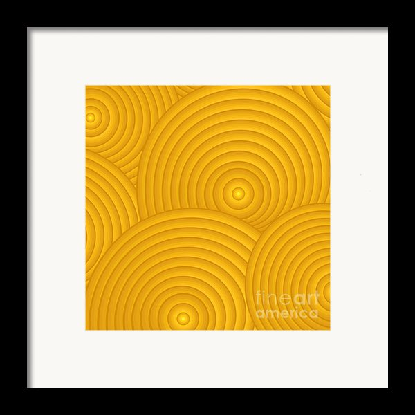 Yellow Abstract Framed Print By Frank Tschakert