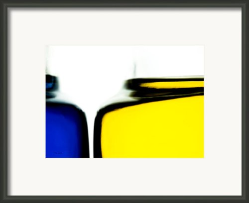 Yellow Blue Framed Print By Bob Orsillo