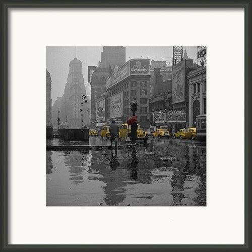 Yellow Cabs New York Framed Print By Andrew Fare