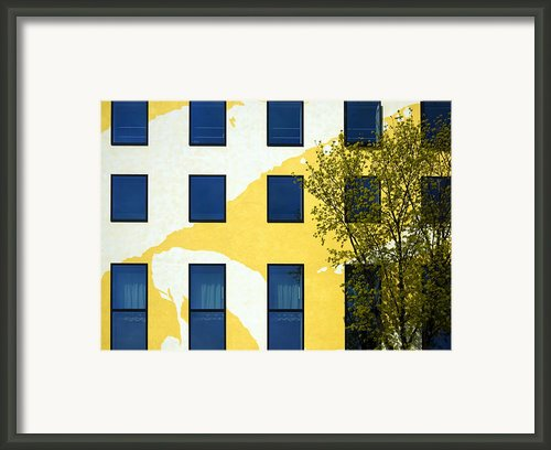 Yellow Facade In Berlin Framed Print By Ricardmn Photography