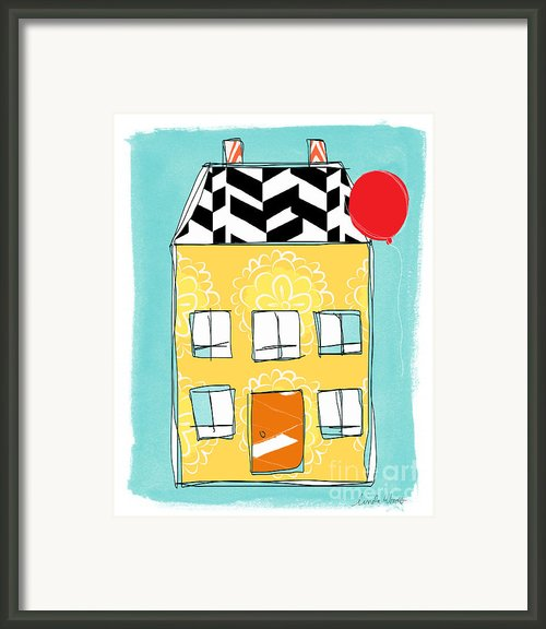 Yellow Flower House Framed Print By Linda Woods