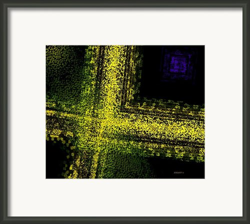 Yellow Interception Framed Print By Mario  Perez