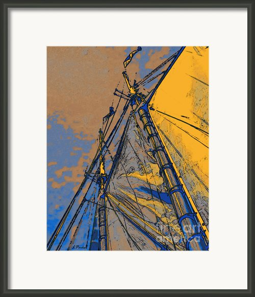 Yellow Sails At Sea Framed Print By Linda  Parker
