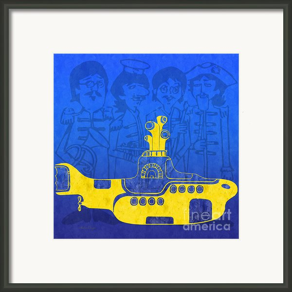 Yellow Submarine Framed Print By Andee Photography