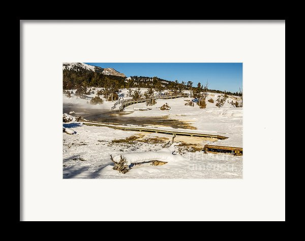 Yellowstone Hot Spring Framed Print By Sue Smith