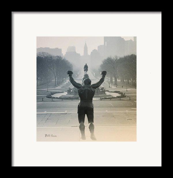 Yo Adrian Framed Print By Bill Cannon