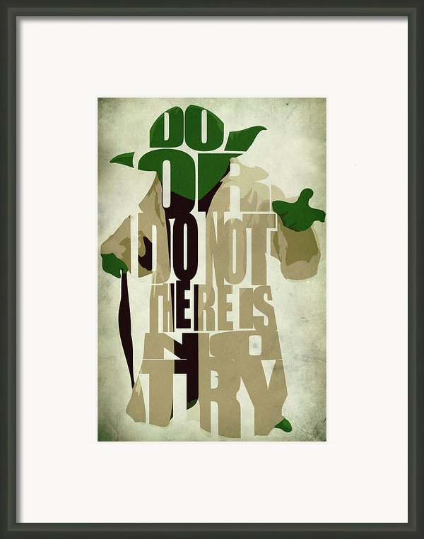 Yoda - Star Wars Framed Print By Ayse Deniz