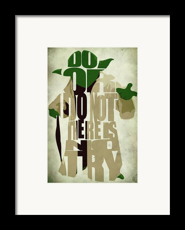 Yoda - Star Wars Framed Print By Ayse Deniz