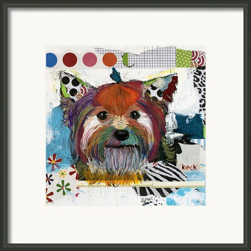Yorkshire Terrier Framed Print By Michel  Keck