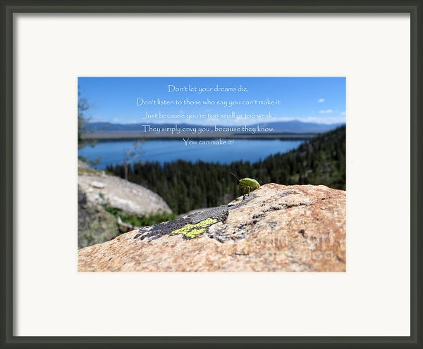 You Can Make It. Inspiration Point Framed Print By Ausra Paulauskaite