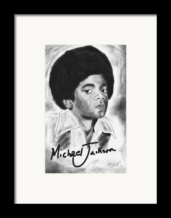 Young Michael Jackson Framed Print By Kenal Louis
