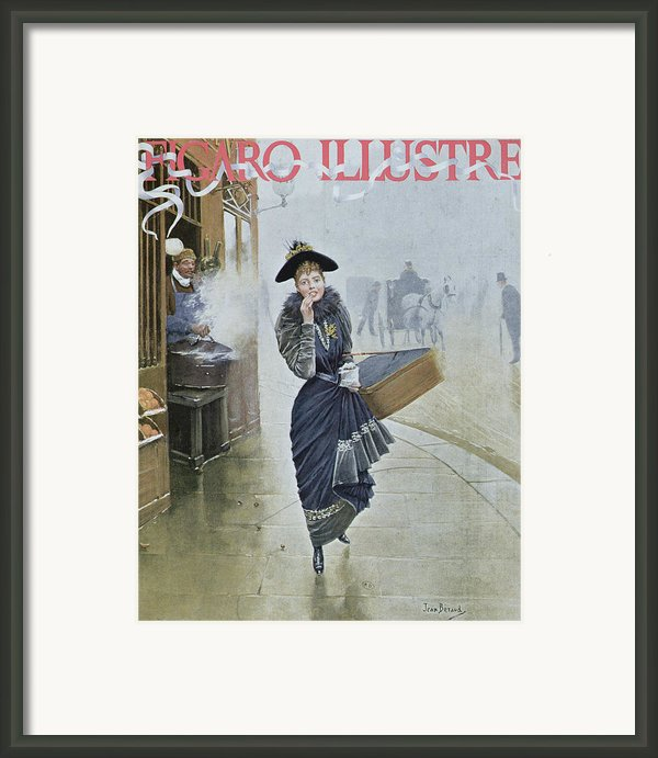 Young Parisian Hatmaker Framed Print By Jean Beraud