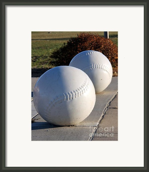 Youth Baseball Park Framed Print By Yumi Johnson