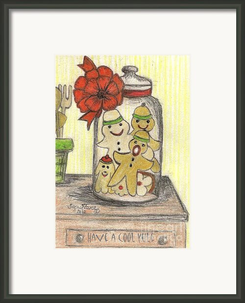 Yule Cookie Anxiety Framed Print By Sigrid Tune