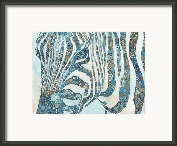 Zebra In Fragments Framed Print By Tamara Phillips