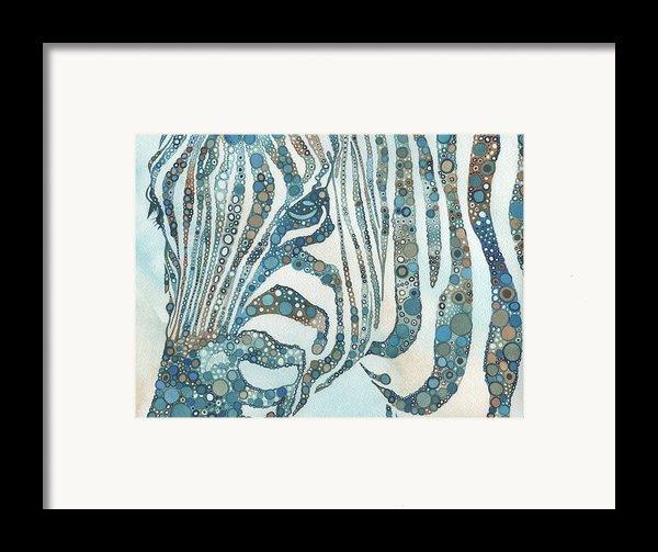 Zebra In Fragments Framed Print By Tamara Phillips