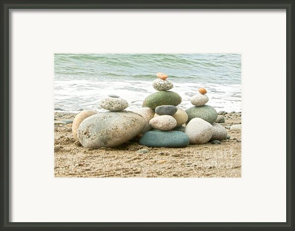 Zen Meditation Balance Framed Print By Artist And Photographer Laura Wrede