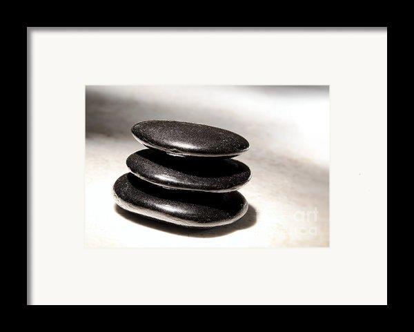 Zen Stones Framed Print By Olivier Le Queinec