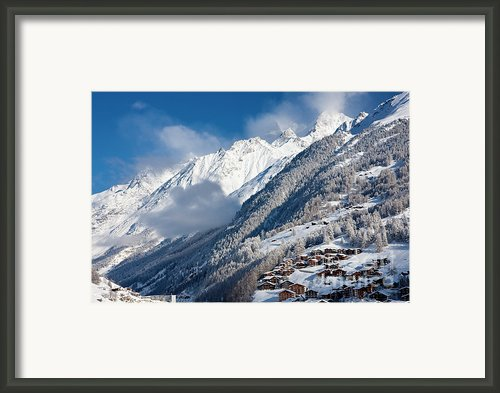 Zermatt Mountains Framed Print By Brian Jannsen