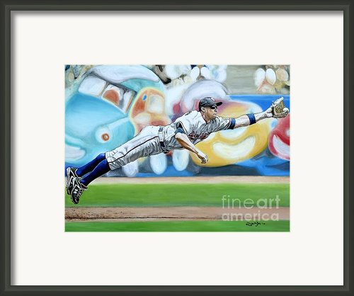 Zim Makes The Play Framed Print By Jason Yoder