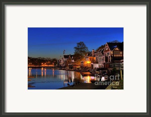 Boathouse Row  Framed Print By John Greim