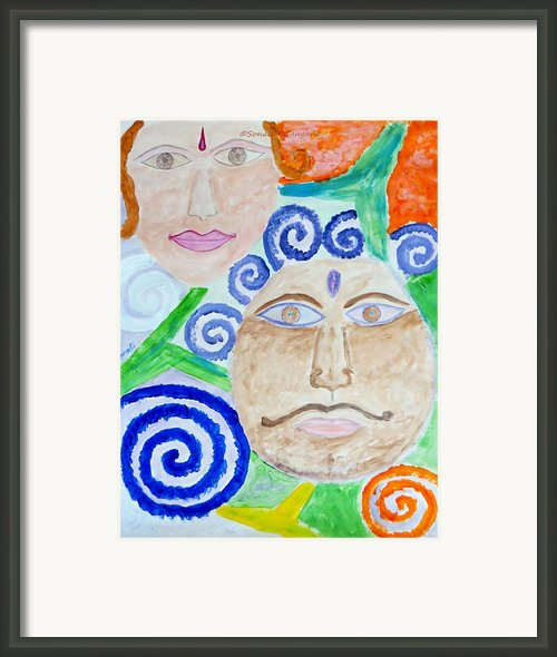 Faces Framed Print By Sonali Gangane