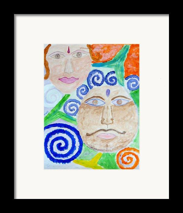 Faces Framed Print By Sonali Gangane