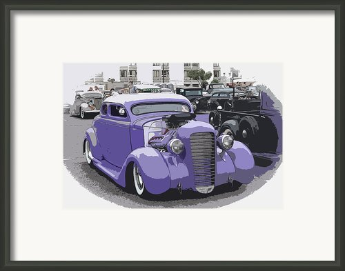 Hot Rod Purple Framed Print By Steve Mckinzie