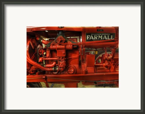 Mccormick Tractor - Farm Equipment  - Nostalgia - Vintage Framed Print By Lee Dos Santos