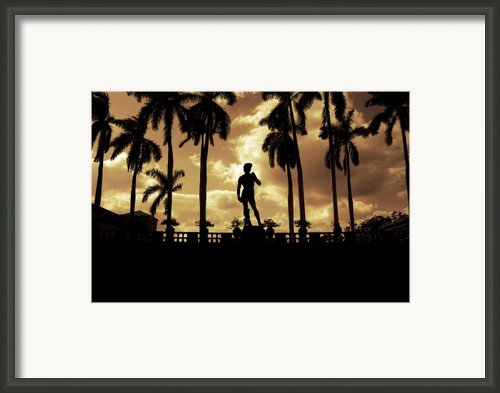 Replica Of The Michelangelo Statue At Ringling Museum Sarasota Florida Framed Print By Mal Bray