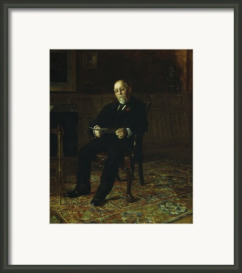 Robert M. Lindsay Framed Print By Thomas Cowperthwait Eakins