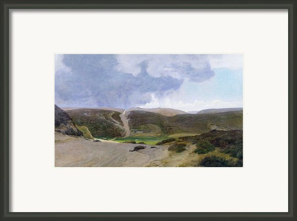Scandinavian Landscape  Framed Print By Janus La Cour