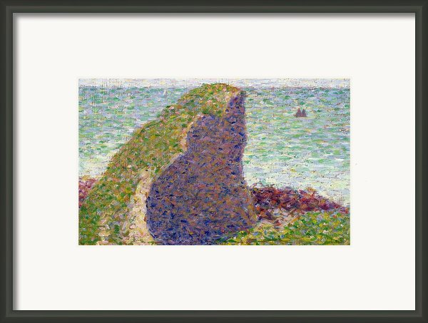 Study For Le Bec Du Hoc Framed Print By Georges Pierre Seurat