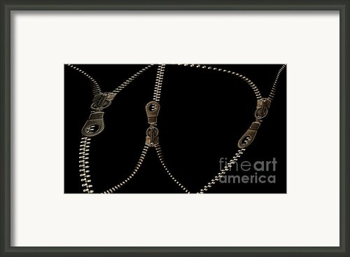 Zippers Framed Print By Odon Czintos