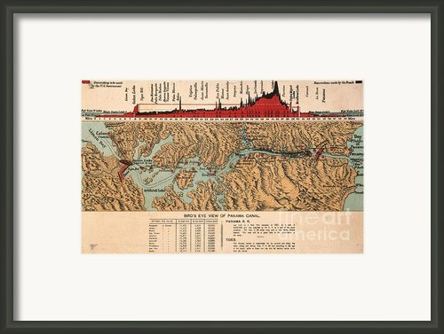 Card: Panama Canal, 1914 Framed Print By Granger