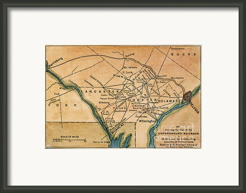 Underground Railroad Map Framed Print By Granger