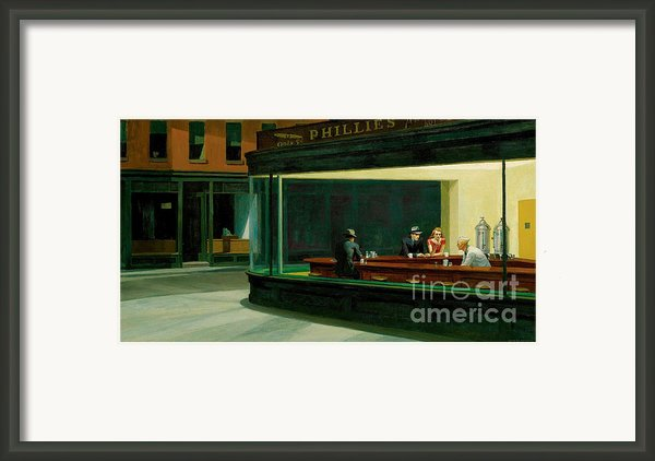Hopper: Nighthawks, 1942 Framed Print By Granger