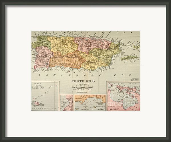 Map: Puerto Rico, 1900 Framed Print By Granger