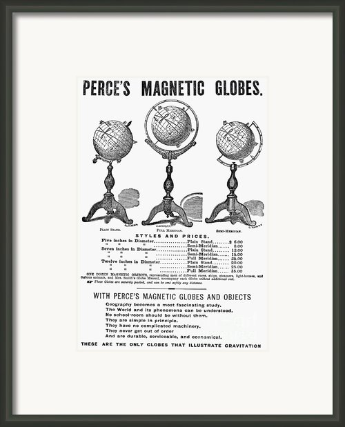 Maps: Globes Framed Print By Granger