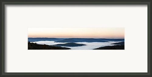 0710-0037 Sunrise At Firetower Road Framed Print By Randy Forrester