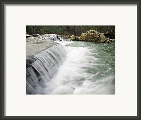 0804-0012 Six Finger Falls 1 Framed Print By Randy Forrester
